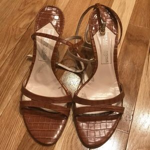 Saks Fifth Avenue wrap around sandals